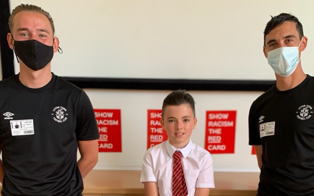 Luton Student Shows Racism The Red Card
