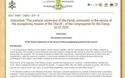 New guidance for parishes from Rome